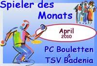 Spieler des Monats April