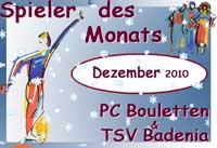 Schneeboule: Spieler des Monats Dezember