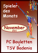 Spieler des Monats November