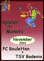 Spieler des Monats November verschoben!