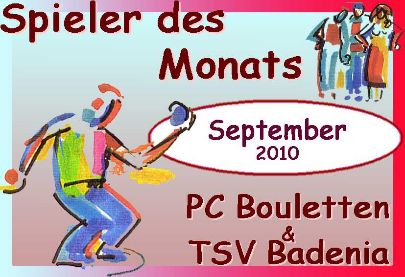 Spieler des Monats September / Spieler des Jahres